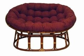 International Caravan Double Papasan Chair with Microsuede Cushion