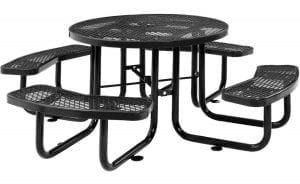 "Global Industrial 46"" Expanded Metal Picnic Table"