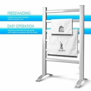 INNOKA 2-in-1 Freestanding & Wall Mounted Heated Towel Warmer