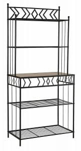 Kings Furniture of Brand Black Metal with Marble Finish 5-Tier Bakers Rack – Baker Racks