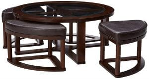 Marion Contemporary Round Coffee Table