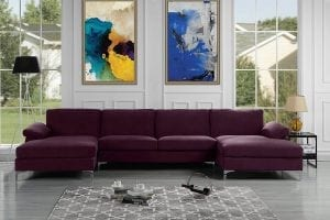 Sofamania Modern U-Shape Sectional Sofa