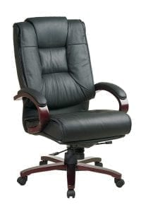 Office Star High Back Plush Leather Back