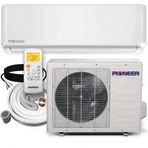 PIONEER Air Conditioner Inverter+ Ductless Wall Mount Mini Split System Air Conditioner 12000 BTU 230V