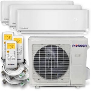 Pioneer Air Conditioner Inverter++ Ductless Wall Mount Multi-Split System Air Conditioner Triple (3) Zone