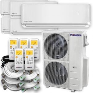 Pioneer Air Conditioner Multi-Split System Air Conditioner & Heat Pump Full Set, Quint (5) Zone