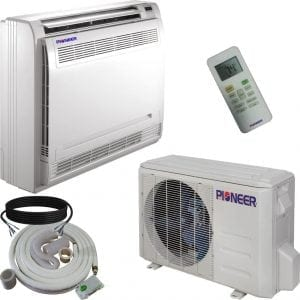 Pioneer Floor Console Split Ductless Inverter with Heat Pump System