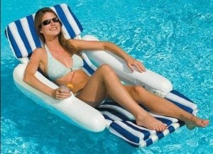 SunChaser Padded Luxury Swimming Pool Lounge Chair