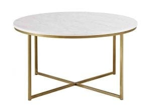 """WE Furniture 36"""" Round Coffee Table"""
