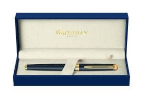 Waterman Hemisphere Matte Black Gold Trim Fountain Pen