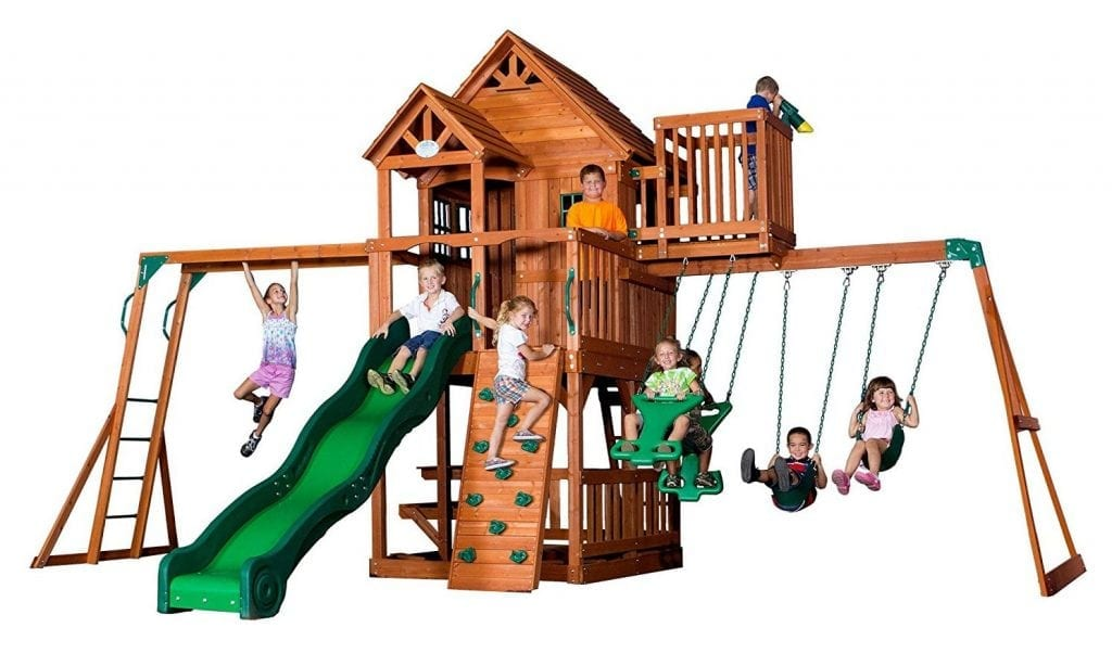 Backyard Discovery Skyfort II All Cedar Wood Swing Set