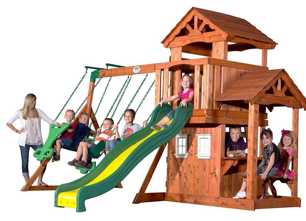 Backyard Discovery Tanglewood All Cedar Wood Playset Swing Set