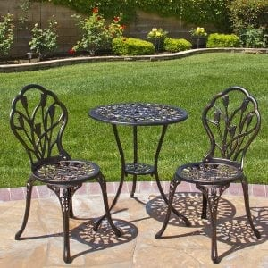 Bistro 3 Piece Outdoor Patio dining set
