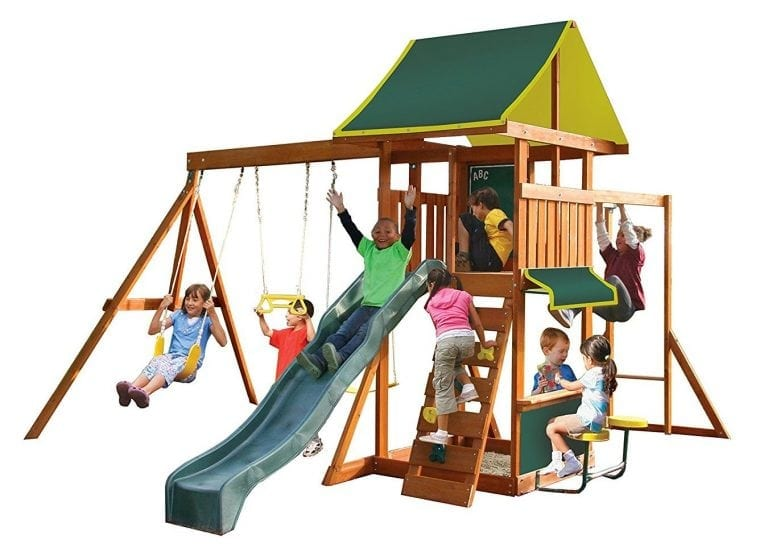 Big Backyard Brightside Wooden Swing Set by KidKraft