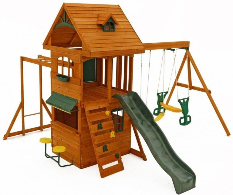 Top 10 Best Wooden Swing Sets In 2019
