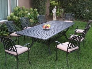 Cast Outdoor Patio dining table set