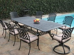 CBM 9-Pieces Outdoor Patio Dining Set