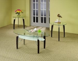 Coaster 701558 3-Piece Occasional Glass Table Set