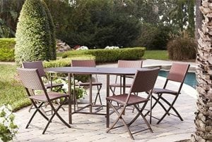 Cosco 87637DBRE Outdoor Patio Dining Set