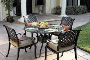 Darlee Nassau 5-Piece Outdoor Patio Dining Set