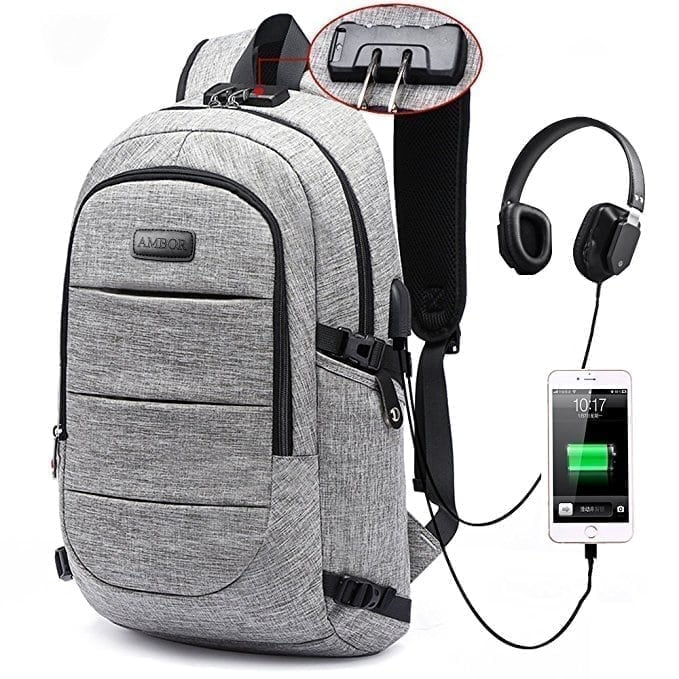 AMBOR Laptop, Business Anti Theft Waterproof Travel Backpack
