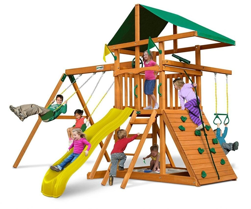 Swing-N-Slide Outing Play and Swing Sets with Wave Slide
