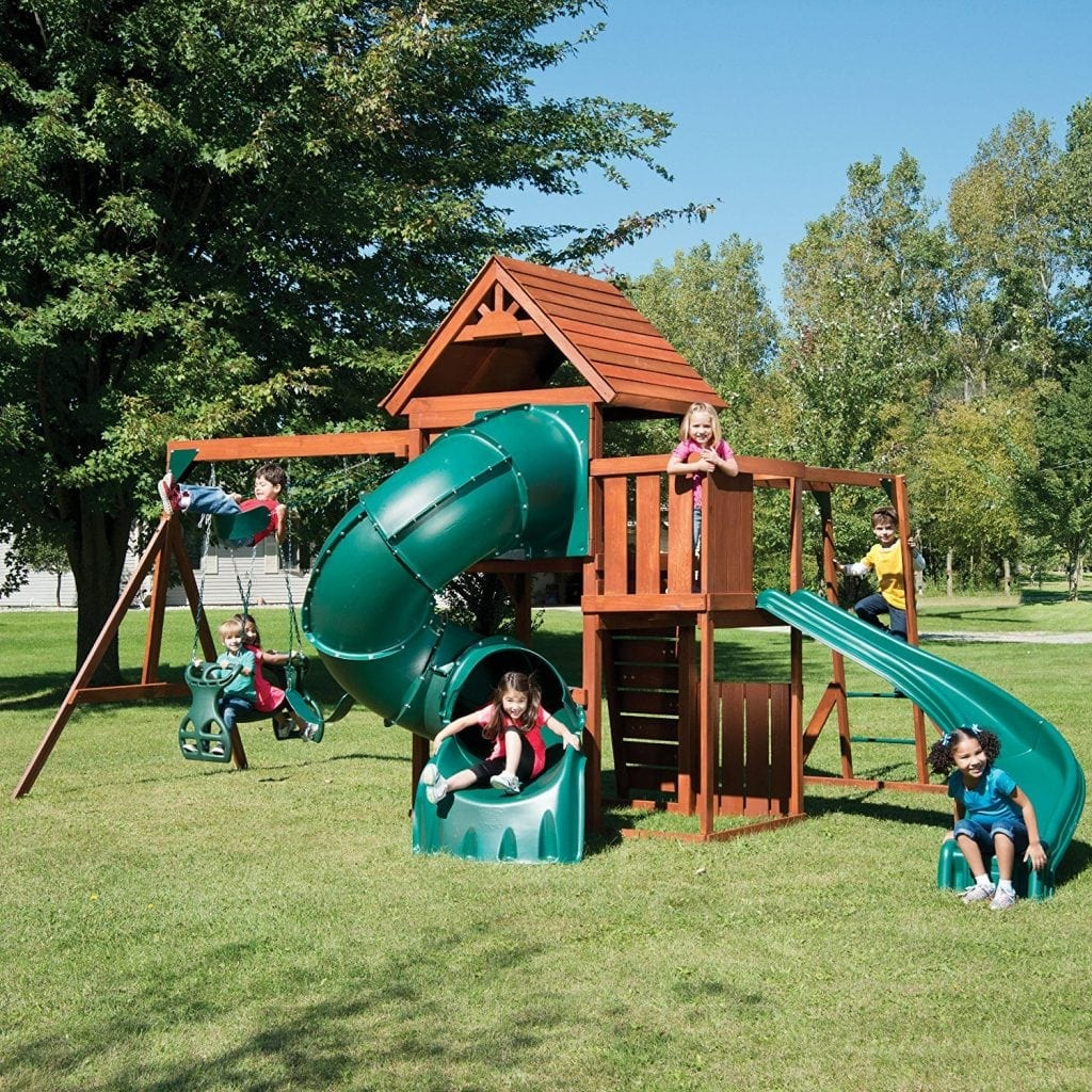 Swing-N-Slide Grandview Twist Play Set with Two Slides