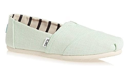 TOMS Classic Floral Embroidery Striped Women's Shoes