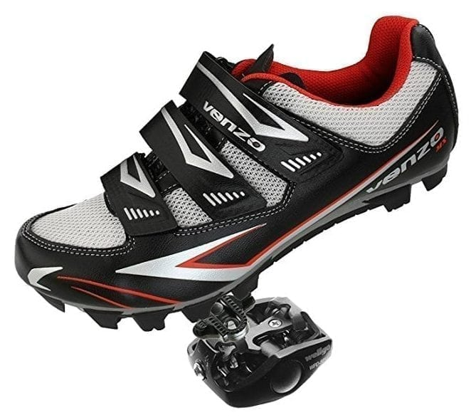 Venzo Mountain Bike SPD Shoes + Pedals & Cleats