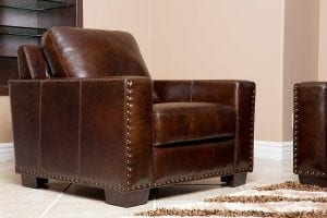 Abbyson® Beverly Hand Rubbed Leather Armchair