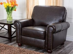 Abbyson® Wilshire Italian Leather Armchair