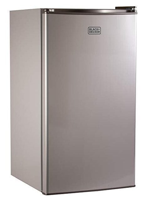 Black + Decker Compact Refrigerator BCRK32V Single Door Mini Fridge/ Freezer 3.2 Cubic Feet.