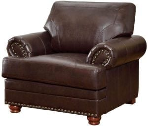 Coaster Colton Traditional Leather Living Room Chair
