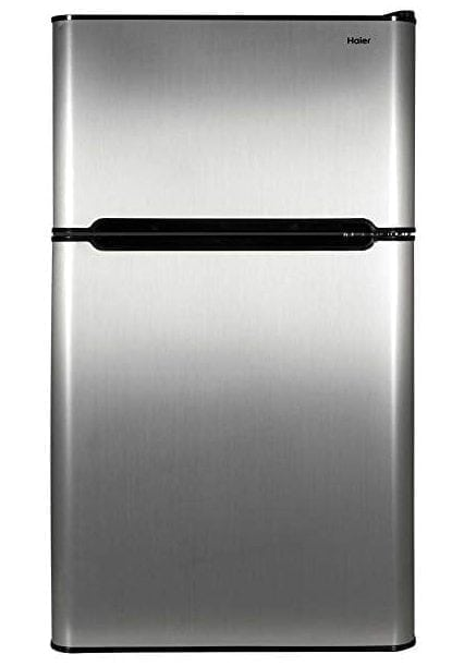 Haier Stainless Steel 2-Door, 3.2 Cubic Feet Refrigerator