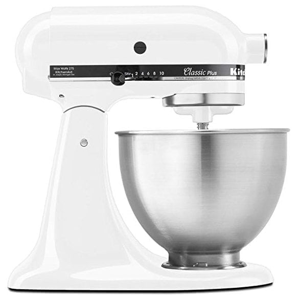 KitchenAid KSM75WH Classic Plus Series Stand Mixer