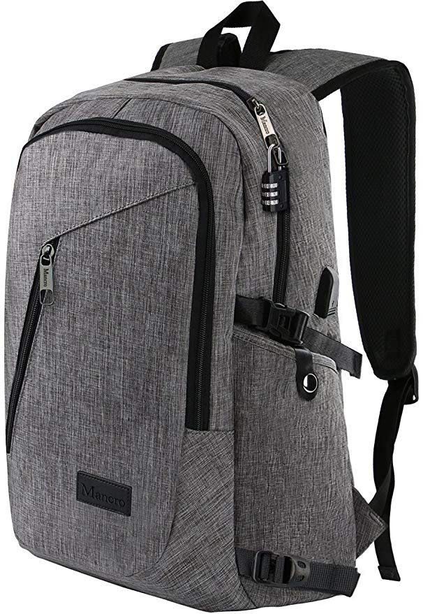 Mancro Anti Theft Water Resistant College backpack