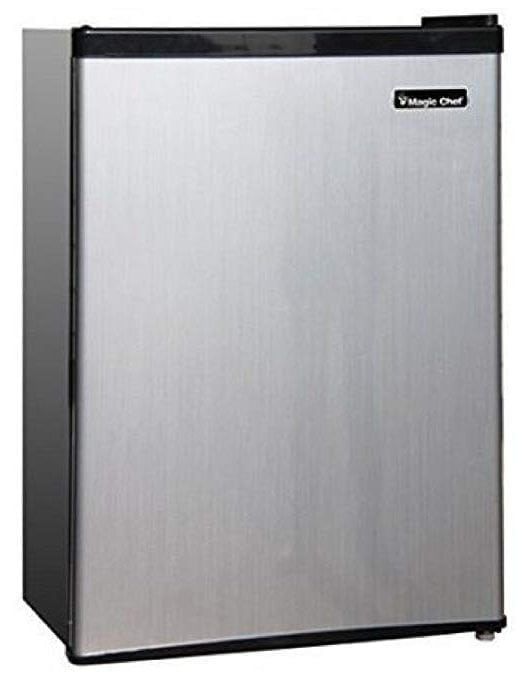 Magic Chef Stainless Steel Mini Refrigerator MCBR240S1 2.4 Cubic feet.