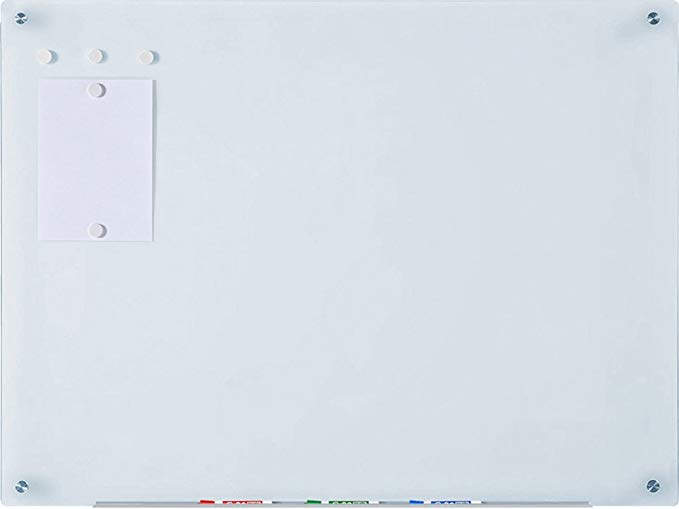 Magnetic Glass Dry-Erase Board Set - 35 1/2 x 47 ¼ Inches