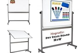 Dapper Display Magnetic Mobile Glass Whiteboard