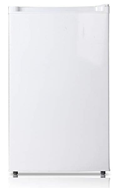 Midea WHS-109FW1, 3.0 Cubic Feet, Single Reversible Door Compact Upright Freezer