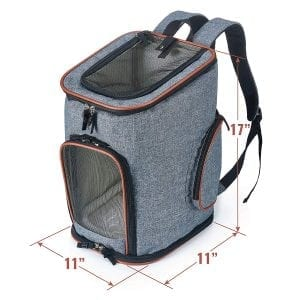 Pawfect Pets Carrier Backpack for Small Dogs and Cats
