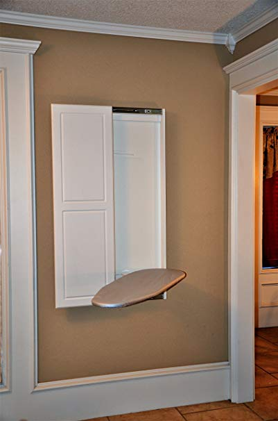 Slide-Away Wall Mounted Ironing Board with Double Panel Door