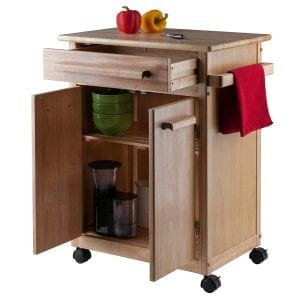 Winsome Wood Single Drawer Kitchen Cabinet Storage Cart