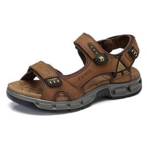 CAMEL Leather Sandals for Men Beach Outdoor Summer Hiking Sandal