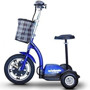 E-wheels EW-18 400W Blue Adult sit: stand Electric Mobility Scooter
