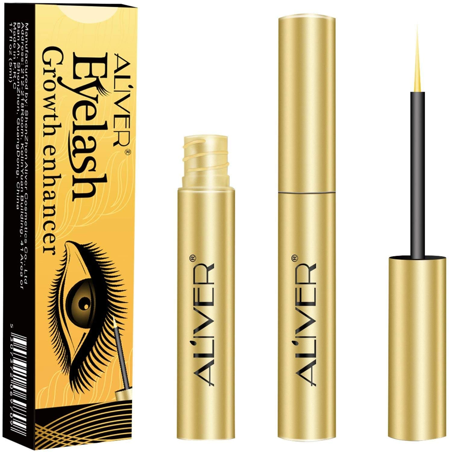 Eyelash Growth Serum, Aliver Natural Extract Lash and Brow Enhancer
