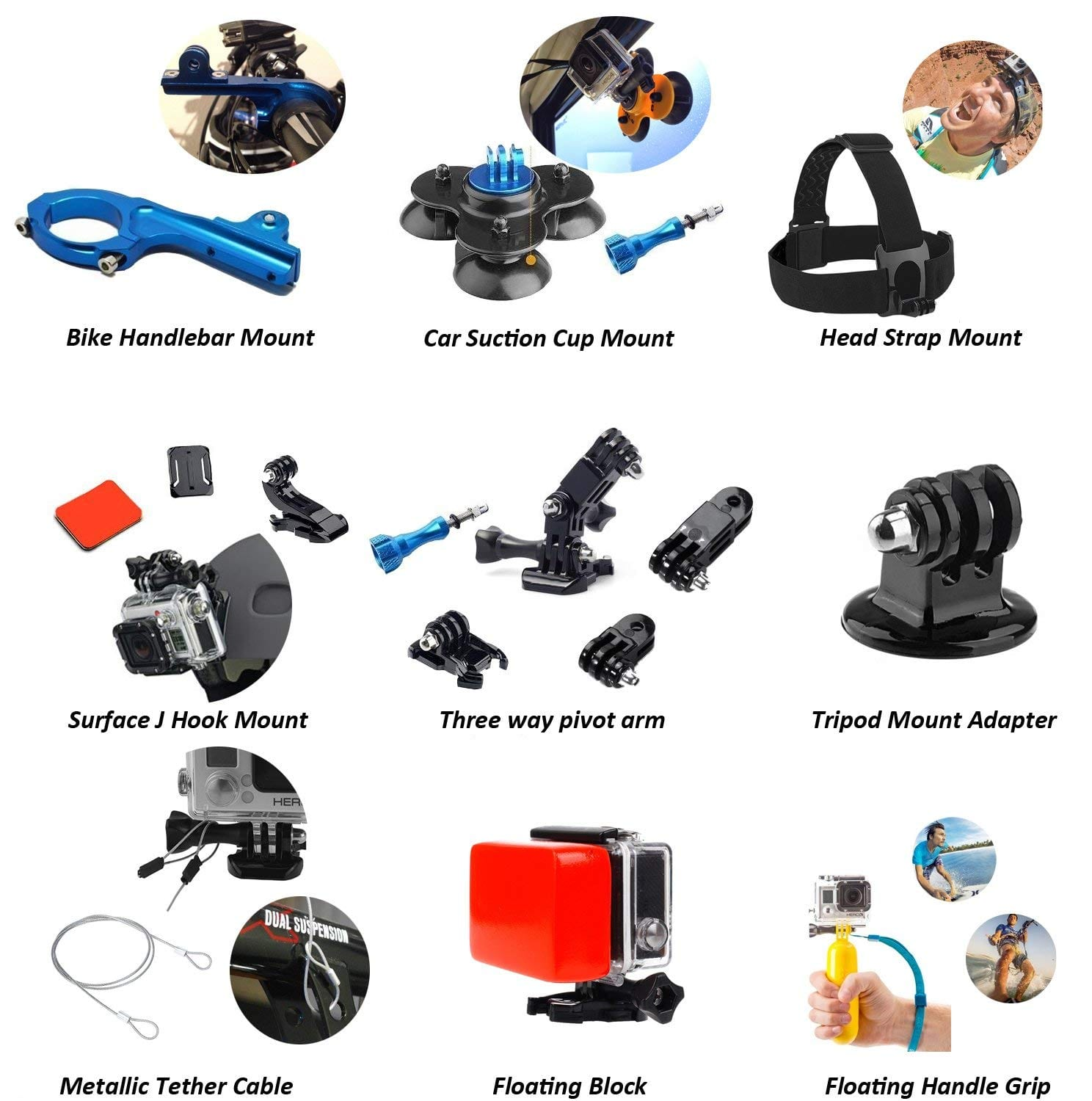Nomadic Gear 55-in-1 Action Camera Accessory Kit for GoPro