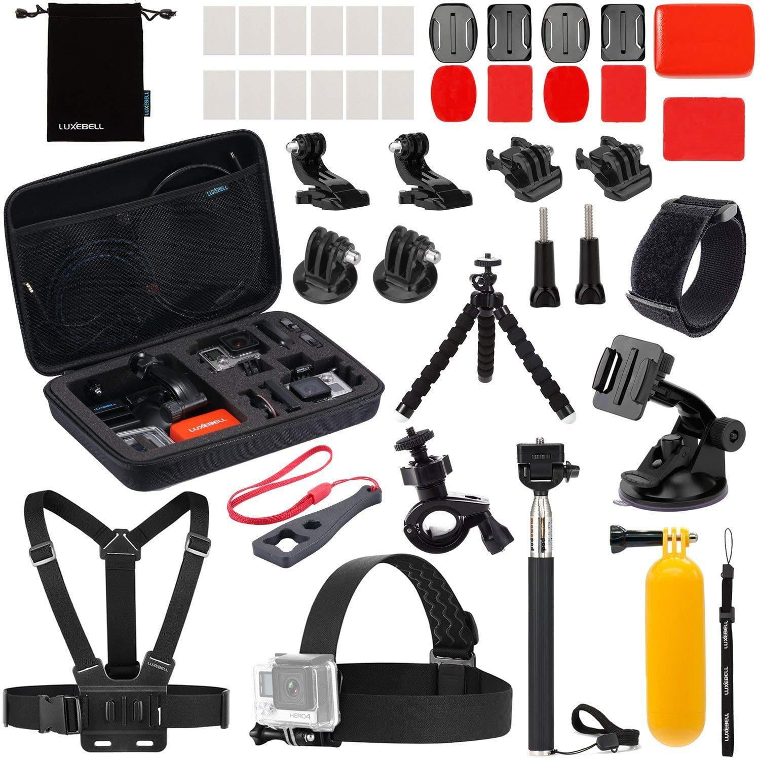 Luxebell accessory Kit for Akaso EK5000 EK7000 GoPro Hero 7-6-5.