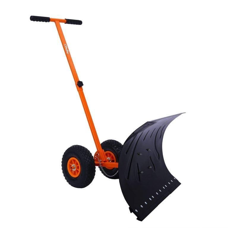 Ohuhu Adjustable Wheeled Snow Pusher