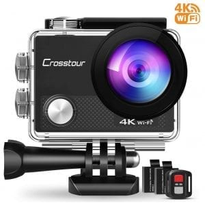Crosstour 4K 16MP Action Camera-with Remote Control